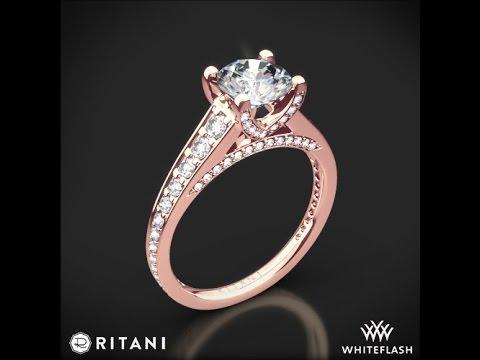 Ritani Modern Graduated Diamond Engagement Ring 7493