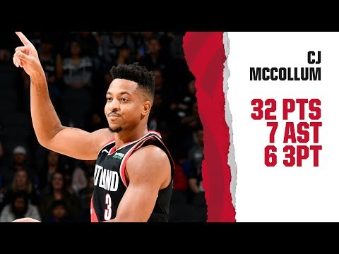 CJ McCollum (32 pts, 7 ast) Highlights | Trail Blazers at Spurs | November 16, 2019