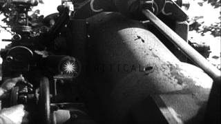 German Army tanks are seen with gun turrets HD Stock Footage