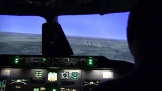 Полет на тренажере Ту-204СМ