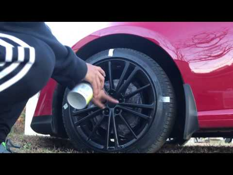 How to Plasti-Dip wheels without taking them off Scion Frs