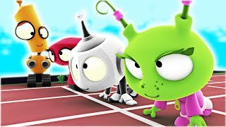 Sports Day | Rob The Robot | Funny Cartoons For Kids by Oddbods & Friends