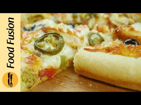 Download Stuffed Crust Pizza & Pizza Dough Recipe By Food Fusion Mp4 HD Video and MP3