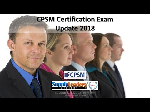 CPSM Certification Update For Procurement Career in Purchasing ...