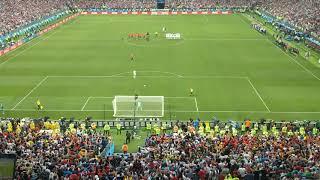 Прекрасный результат сборной России. Это чудо на яву. Лужники матч Испания россия серия пенальти.