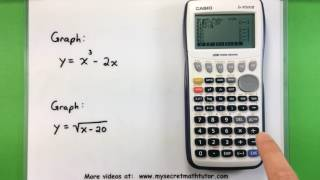 Basic Math - Graphing with a Casio fx-9750GII Calculator
