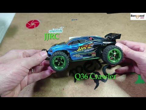 JJRC Q36 RC Crawler Dirt Run And On Tarmac With FPV