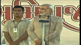 preview picture of video 'Shri Narendra Modi attends ground breaking ceremony of M. S. Lakhani Hospital, Surat'