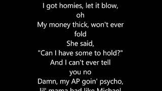 Post Malone   Psycho CLEAN LYRICS Ft.Ty Dolla $ign