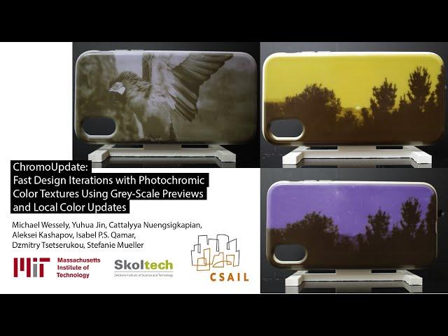 Разработанная в MIT технология позволяет «примерить» на предмет самые разные цвета