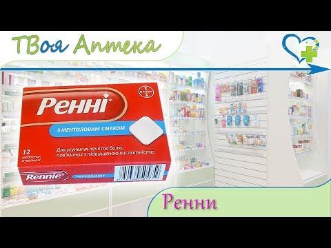 Ренни таблетки ☛ показания (видео инструкция) описание ✍ отзывы ☺️