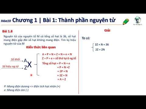✔ Hóa10  PP Tìm nhanh nguyên tố M khi đề cho tổng số hạt
