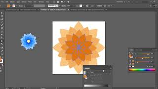 How To Create Gradient Flowers In Adobe Illustrator Part 2