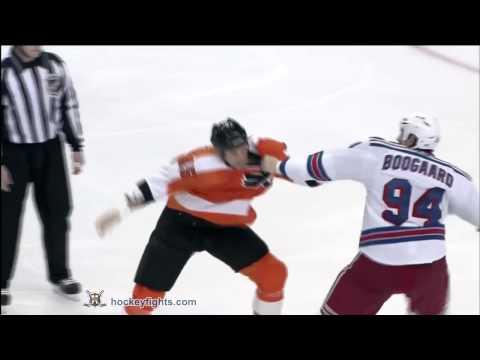 Derek Boogaard vs Jody Shelley