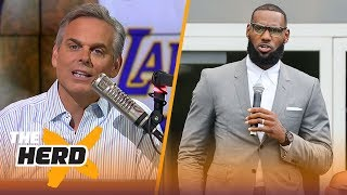 Colin Cowherd reacts to President Donald Trump's tweet about LeBron James | NBA | THE HERD
