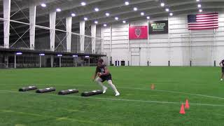 2021 National Scouting Combine Linebacker Position Drills