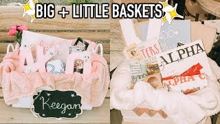 Big & Little Baskets + Reveal | What My Big Got Me!
