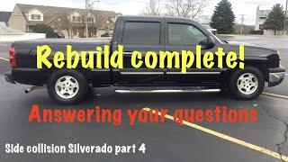 Chevrolet Silverado side collision cab swap rebuild part 4