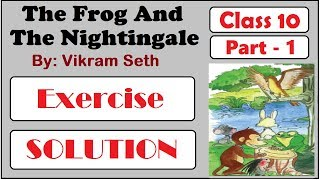 vikram seth the frog and the nightingale