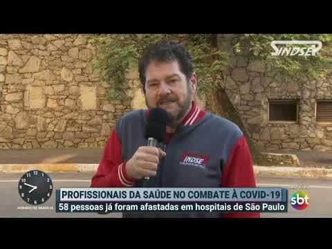 Sérgio fala sobre as condições de trabalho dos profissionais da saúde para o programa Primeiro Impacto