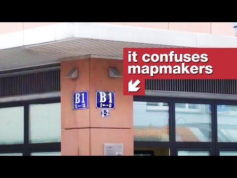 Evropské město bez názvů ulic