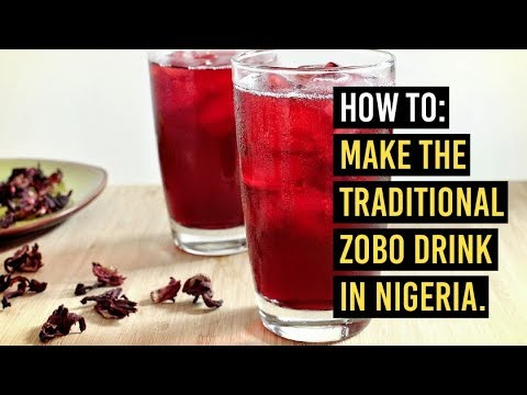 How to make traditional Zobo Drink in Nigeria