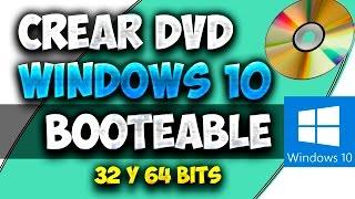 Como Crear DVD Booteable De Windows 10 Para Instalarlo En Cualquier PC
