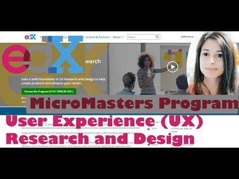 UX, Research and Design   Edx   Reviewing online tech courses ...