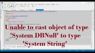 Unable to cast object of type 'System DBNull' to type 'System String'