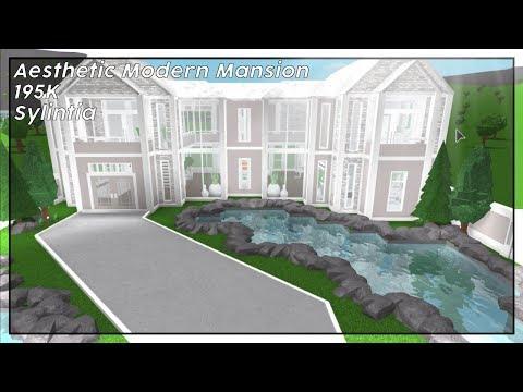 aesthetic modern mansion 195k bloxburg speedbuild