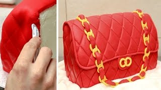 3D HANDBAG Cake - How To Make / Cakes That Looks Like Real Things By Cakes StepbyStep