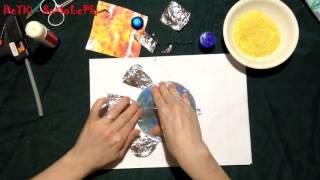"""Как сделать своими руками золотую рыбку из диска, бумаги и конфет """"поделки своими руками"""""""