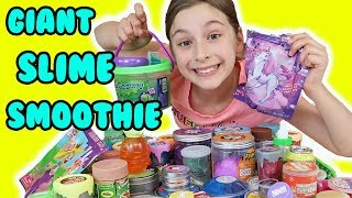MIXING ALL MY STORE BOUGHT SLIMES 😱😱Giant Slime Smoothie!!