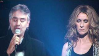 "Celine Dion ""The Prayer"" With Andrea On Video MSG, NY"