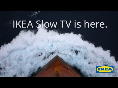 IKEA is streaming a live container ship journey to australia for the next 2 weeks, very slow and relaxing
