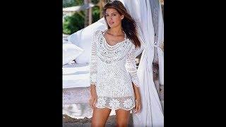 Вязание Туники Крючком - видео - модели 2017 /Knitting the Tunic with Hook Video /Knitting Crochet