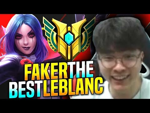 FAKER The BEST LEBLANC in KOREA! - SKT T1 Faker Plays Leblanc vs Ryze Mid! | T1 Faker KR SoloQ