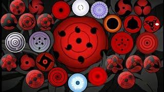Naruto:All Dojutsu Eye Forms Ability(ketsuryugan,Rinnegan,Tenseigan,Byakugan,Mangekyō,RinneSharingan