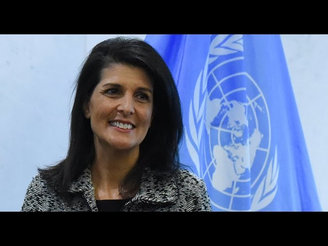 US envoy Nikki Haley says Syria regime change is