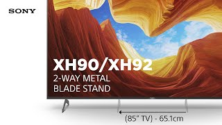 YouTube Video DSb8021dhWk for Product Sony XH90 / XH92 (X900H) 4K Full Array LED TV by Company Sony Electronics in Industry Televisions
