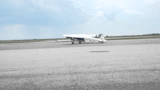 Taxing Ford Trimotor, Natrona County International Airport