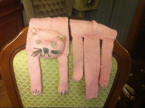 DIY*Kinderschal* Schal Katze*Stricken*scarf knitting*Cat Scarf Knitting*Szal Kot*Tutorial Handarbeit