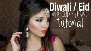 Tutorial | Indian Wedding, Diwali & Eid | Kaushal Beauty - Download this Video in MP3, M4A, WEBM, MP4, 3GP