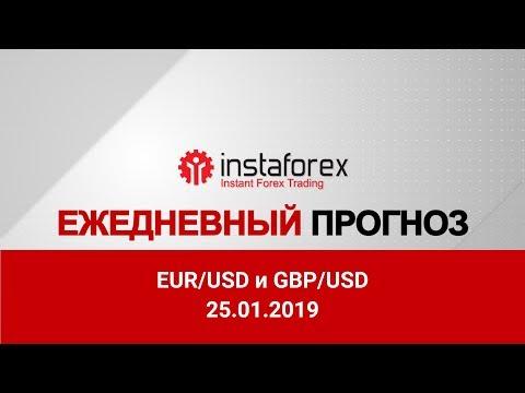 InstaForex Analytics: Марио Драги опасается за рост экономики еврозоны. Видео-прогноз по рынку Форекс на 25 января