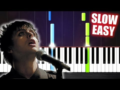 Green Day - Wake Me Up When September Ends - SLOW EASY Piano Tutorial by PlutaX