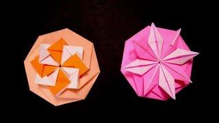Origami Octagon Flower  - Octagon Envelope. Tarjeta Compleja. Christmas Ideas