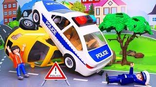 Мультики про машинки. Полицейская машина в видео с игрушками. Новые серии для детей