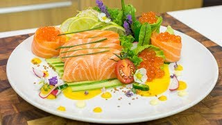How to Make Salmon Sashimi Plate