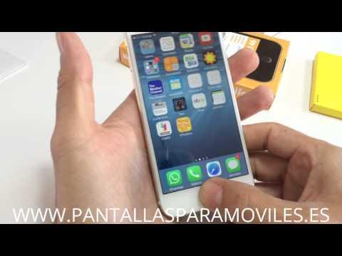 """Como Poner Protector de Pantalla Cristal Templado Para iPhone 6 4.7"""" 2.5D 9H Premium 0.26mm"""