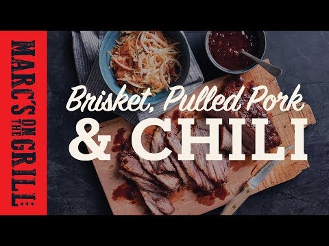 Labor Day With Marc's on the Grill Full Episode with Smoked Brisket, Pulled Pork and Chili